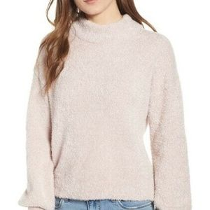 Code X Mode Cozy Chenille Sweater Turtleneck Pink